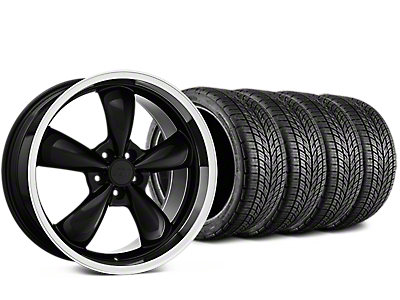 Staggered Bullitt Black Wheel & BF Goodrich G-FORCE COMP 2 Tire Kit - 19x8.5/10 (05-14 Standard GT, V6)