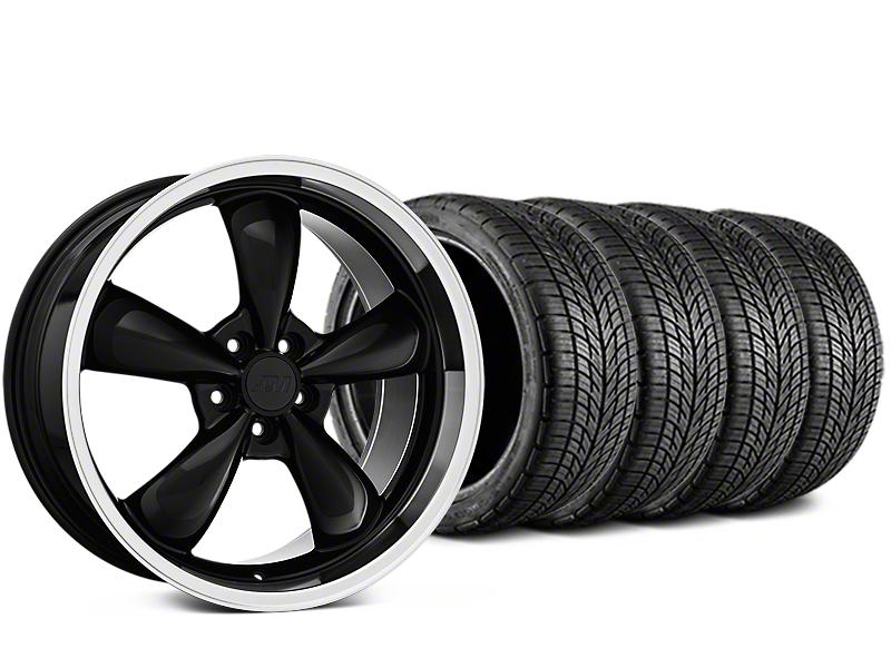 Staggered Bullitt Black Wheel & BF Goodrich G-FORCE COMP 2 Tire Kit - 19x8.5/10 (05-14 All)