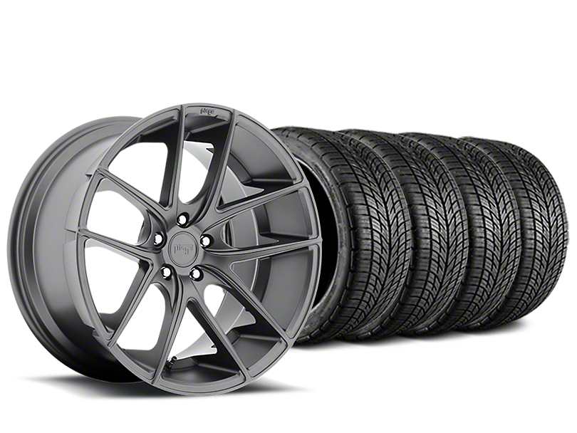 Staggered Niche Targa Matte Anthracite Wheel & BF Goodrich G-FORCE COMP 2 Tire Kit - 19x8/10 (05-14 All)