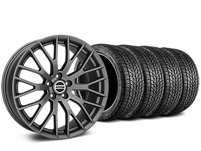 Staggered Performance Pack Style Charcoal Wheel & BF Goodrich G-FORCE COMP 2 Tire Kit - 19x8.5/10 (05-14 All)
