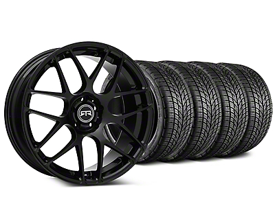 Staggered RTR Black Wheel & BF Goodrich G-FORCE COMP 2 Tire Kit - 19x8.5/10 (05-14 All)