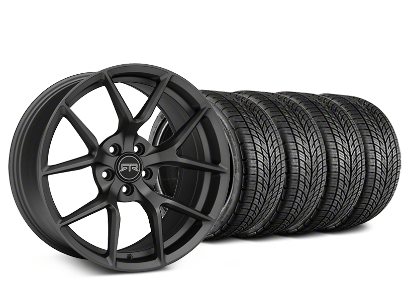 Staggered RTR Tech 5 Charcoal Wheel & BF Goodrich G-FORCE COMP 2 Tire Kit - 19x9.5/10.5 (05-14 All)