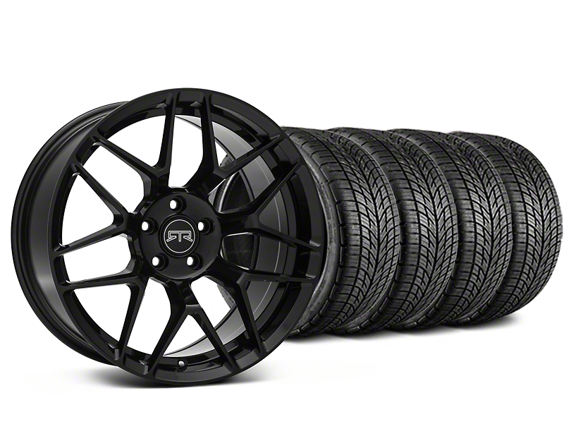 Staggered RTR Tech 7 Black Wheel & BF Goodrich G-FORCE COMP 2 Tire Kit - 19x9.5/10.5 (05-14 All)