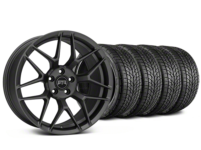 Staggered RTR Tech 7 Charcoal Wheel & BF Goodrich G-FORCE COMP 2 Tire Kit - 19x9.5/10.5 (05-14 All)