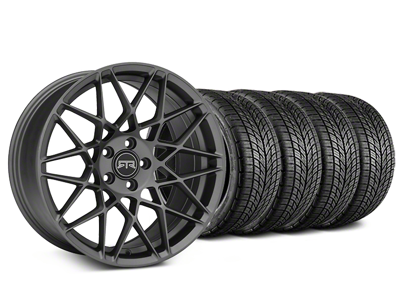 Staggered RTR Tech Mesh Charcoal Wheel & BF Goodrich G-FORCE COMP 2 Tire Kit - 19x9.5/10.5 (05-14 All)
