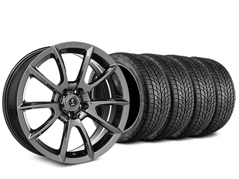 Staggered Shelby Super Snake Style Chrome Wheel & BF Goodrich G-FORCE COMP 2 Tire Kit - 19x8.5/10 (05-14 All)