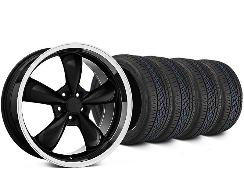 Staggered Bullitt Black Wheel & Continental Extreme Contact DWS06 Tire Kit - 19x8.5/10 (05-14 GT, V6)