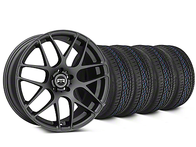 Staggered RTR Charcoal Wheel & Continental Extreme Contact DWS06 Tire Kit - 19x8.5/10 (05-14 All)