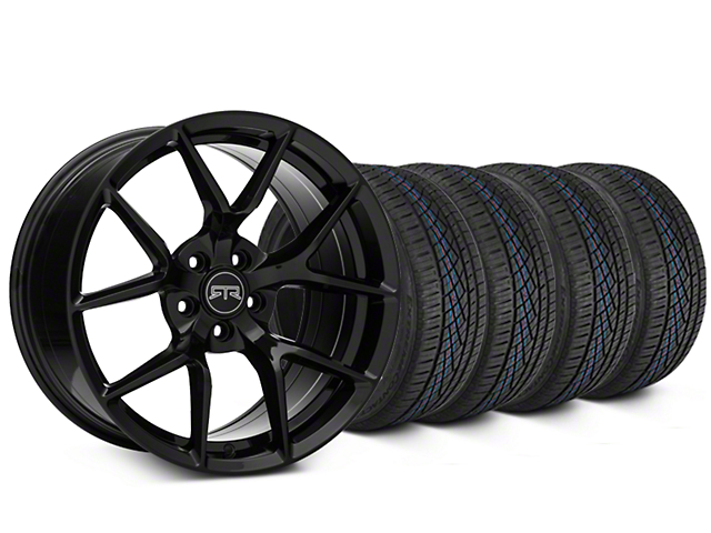 Staggered RTR Tech 5 Black Wheel & Continental Extreme Contact DWS06 Tire Kit - 19x9.5/10.5 (05-14 All)