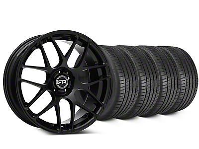 Staggered RTR Black Wheel & Michelin Pilot Super Sport Tire Kit - 19 in. - 2 Rear Options (05-14 All)