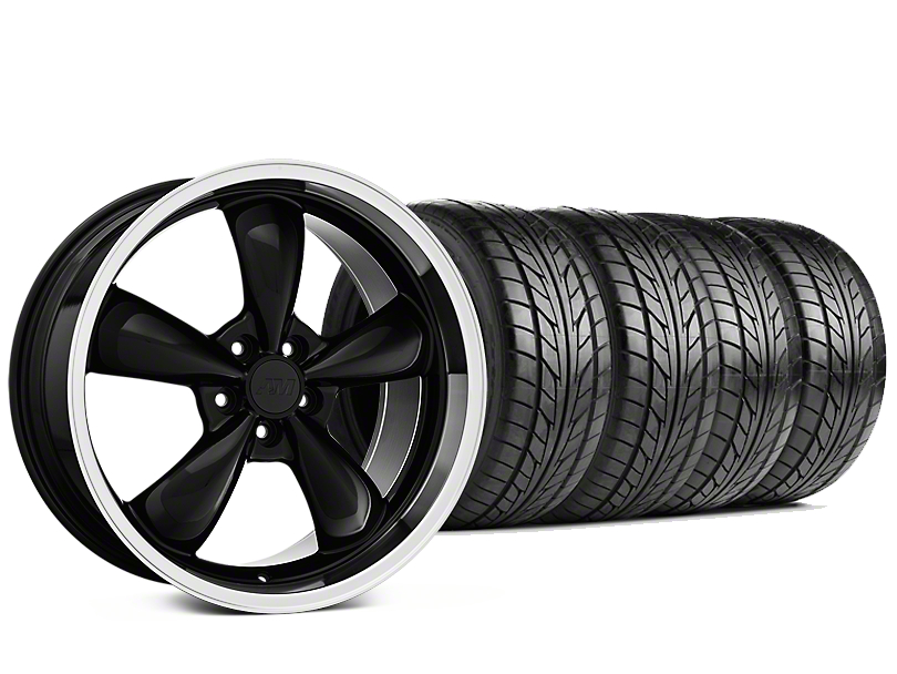 Staggered Bullitt Black Wheel & NITTO NT555 G2 Tire Kit - 19x8.5/10 (15-19 EcoBoost, V6)