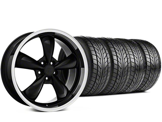 Staggered Bullitt Black Wheel & NITTO NT555 G2 Tire Kit - 19x8.5/10 (15-18 EcoBoost, V6)