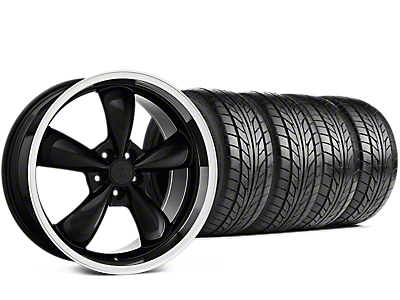 Staggered Bullitt Black Wheel & NITTO NT555 G2 Tire Kit - 19 in. - 3 Rear Options (15-18 EcoBoost, V6)