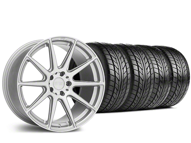 Staggered Niche Essen Silver Wheel & NITTO NT555 G2 Tire Kit - 19 in. - 3 Rear Options (15-17 All)
