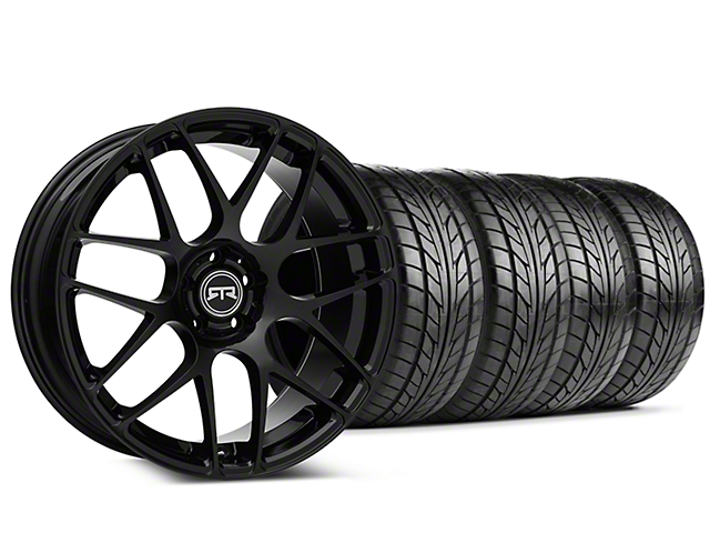 Staggered RTR Black Wheel & NITTO NT555 G2 Tire Kit - 19 in. - 3 Rear Options (15-17 All)