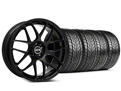Staggered RTR Black Wheel & NITTO NT555 G2 Tire Kit - 19 in. - 3 Rear Options (15-18 All)
