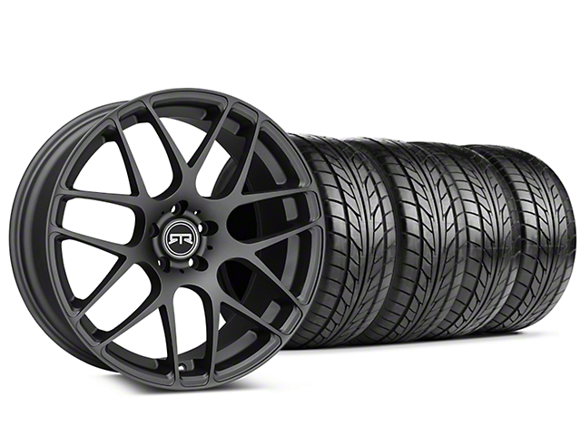 Staggered RTR Charcoal Wheel & NITTO NT555 G2 Tire Kit - 19 in. - 3 Rear Options (15-18 All)