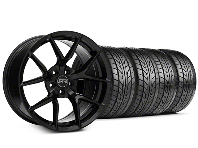 Staggered RTR Tech 5 Black Wheel & NITTO NT555 G2 Tire Kit - 19x9.5/10.5 (15-18 All)