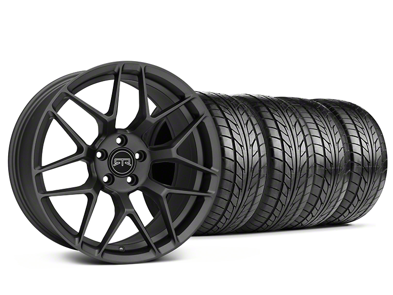 Staggered RTR Tech 7 Charcoal Wheel & NITTO NT555 G2 Tire Kit - 19 in. - 3 Rear Options (15-18 All)