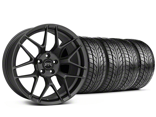 Staggered RTR Tech 7 Charcoal Wheel and NITTO NT555 G2 Tire Kit; 19x9.5/10.5 (15-20 GT, EcoBoost, V6)