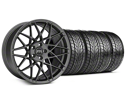 Staggered RTR Tech Mesh Charcoal Wheel & NITTO NT555 G2 Tire Kit - 19 in. - 3 Rear Options (15-18 All)