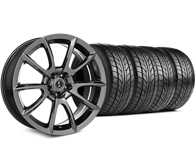 Staggered Shelby Super Snake Style Chrome Wheel & NITTO NT555 G2 Tire Kit - 19 in. - 3 Rear Options (15-18 All)