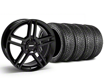 Staggered 2010 GT500 Style Black Wheel & BF Goodrich G-FORCE COMP 2 Tire Kit - 19x8.5/10 (15-18 All)
