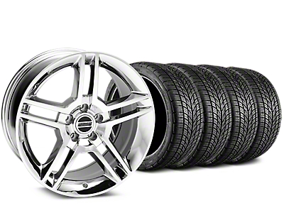 Staggered 2010 GT500 Style Chrome Wheel & BF Goodrich G-FORCE COMP 2 Tire Kit - 19x8.5/10 (15-17 V6, GT, and EcoBoost)