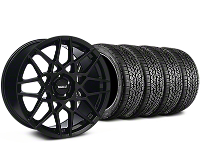 Staggered 2013 GT500 Style Gloss Black Wheel & BF Goodrich G-FORCE COMP 2 Tire Kit - 19x8.5/10 (15-17 GT, EcoBoost, V6)