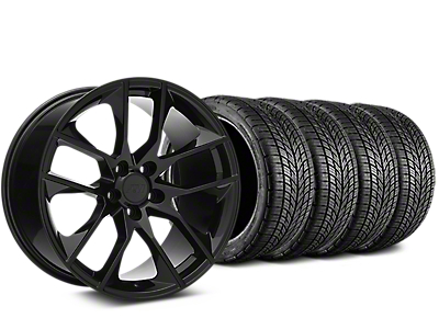 Staggered Magnetic Style Black Wheel & BF Goodrich G-FORCE COMP 2 Tire Kit - 19x8.5/10 (15-17 V6, GT, and EcoBoost)