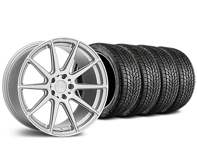 Staggered Niche Essen Silver Wheel & BF Goodrich G-FORCE COMP 2 Tire Kit - 19x8.5/10 (15-18 GT, EcoBoost, V6)