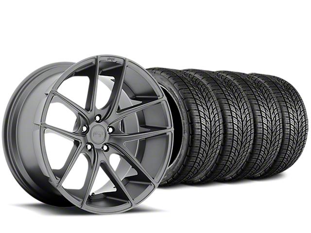 Staggered Niche Targa Matte Anthracite Wheel & BF Goodrich G-FORCE COMP 2 Tire Kit - 19x8/10 (15-17 All)