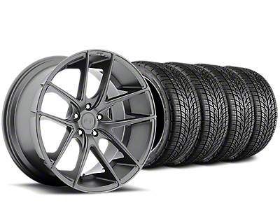 Staggered Niche Targa Matte Anthracite Wheel & BF Goodrich G-FORCE COMP 2 Tire Kit - 19x8/10 (15-18 All)
