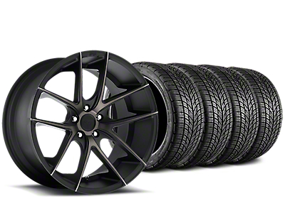 Staggered Niche Targa Matte Black Wheel & BF Goodrich G-FORCE COMP 2 Tire Kit - 19x8/10 (15-18 All)