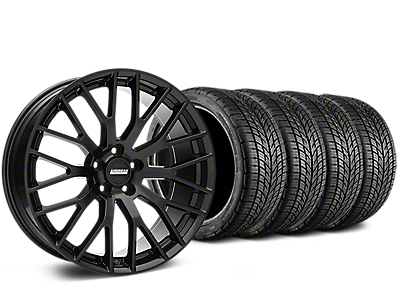 Staggered Performance Pack Style Black Wheel & BF Goodrich G-FORCE COMP 2 Tire Kit - 19x8.5/10 (15-18 GT, EcoBoost, V6)
