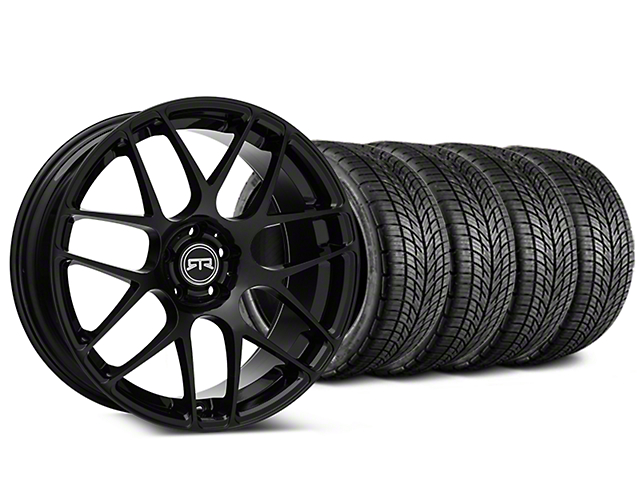 Staggered RTR Black Wheel & BF Goodrich G-FORCE COMP 2 Tire Kit - 19x8.5/10 (15-17 All)