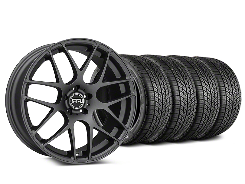 Staggered RTR Charcoal Wheel & BF Goodrich G-FORCE COMP 2 Tire Kit - 19x8.5/10 (15-19 All)
