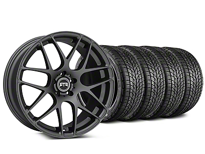 Staggered RTR Charcoal Wheel & BF Goodrich G-FORCE COMP 2 Tire Kit - 19x8.5/10 (15-18 All)