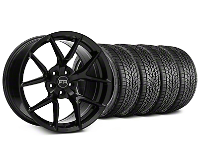 Staggered RTR Tech 5 Black Wheel & BF Goodrich G-FORCE COMP 2 Tire Kit - 19x9.5/10.5 (15-17 All)
