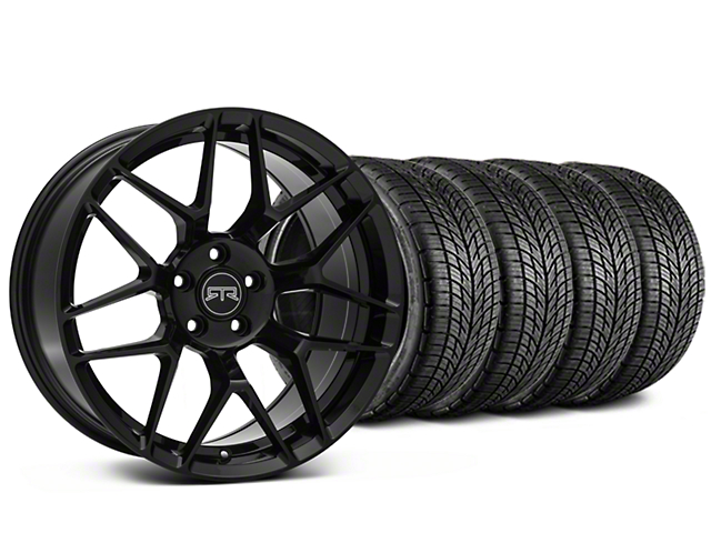 Staggered RTR Tech 7 Black Wheel & BF Goodrich G-FORCE COMP 2 Tire Kit - 19x9.5/10.5 (15-17 All)