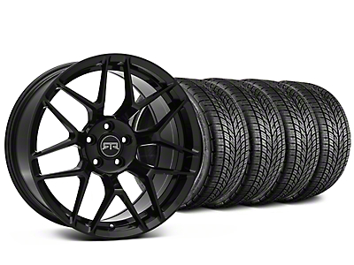 Staggered RTR Tech 7 Black Wheel & BF Goodrich G-FORCE COMP 2 Tire Kit - 19x9.5/10.5 (15-19 All)
