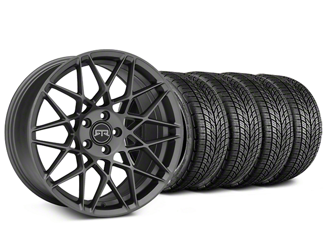 Staggered RTR Tech Mesh Charcoal Wheel & BF Goodrich G-FORCE COMP 2 Tire Kit - 19x9.5/10.5 (15-18 All)