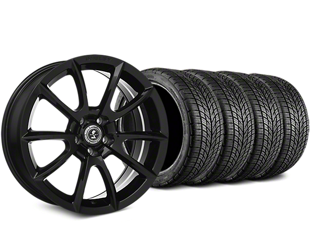 Staggered Shelby Super Snake Style Black Wheel & BF Goodrich G-FORCE COMP 2 Tire Kit - 19x8.5/10 (15-18 All)