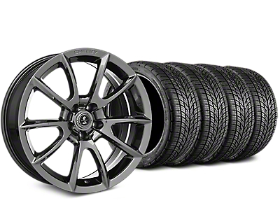 Staggered Shelby Super Snake Style Chrome Wheel & BF Goodrich G-FORCE COMP 2 Tire Kit - 19x8.5/10 (15-18 All)