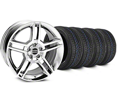 Staggered 2010 GT500 Style Chrome Wheel & Continental Extreme Contact DWS06 Tire Kit - 19x8.5/10 (15-17 All)