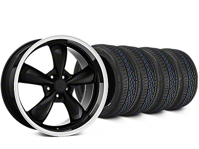 Staggered Bullitt Black Wheel & Continental Extreme Contact DWS06 Tire Kit - 19x8.5/10 (15-17 EcoBoost, V6)