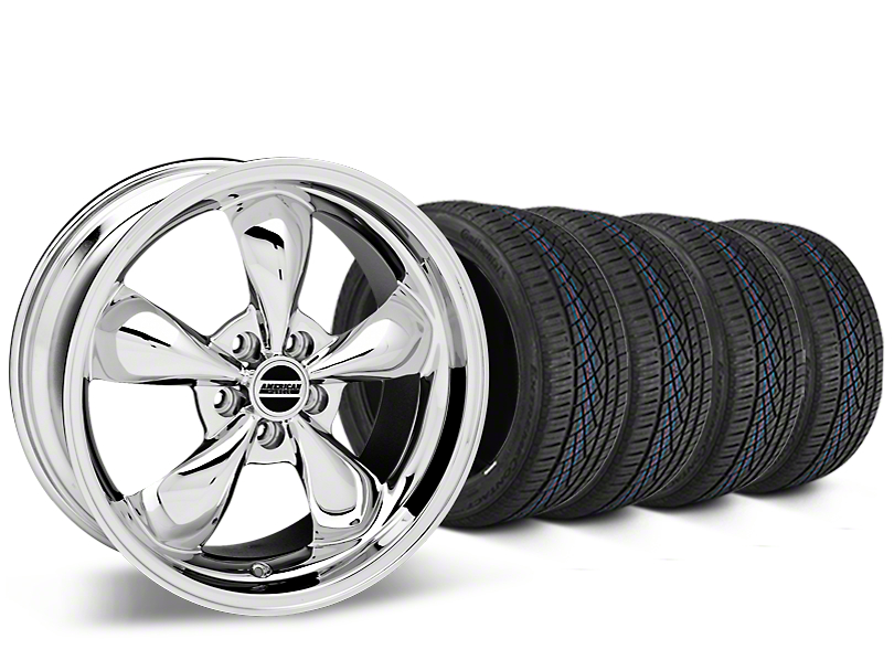 Staggered Bullitt Chrome Wheel & Continental Extreme Contact DWS06 Tire Kit - 19x8.5/10 (15-19 EcoBoost, V6)