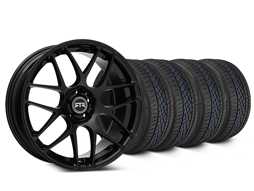 Staggered RTR Black Wheel & Continental Extreme Contact DWS06 Tire Kit - 19x8.5/10 (15-19 All)