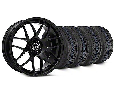 Staggered RTR Black Wheel & Continental Extreme Contact DWS06 Tire Kit - 19x8.5/10 (15-17 All)