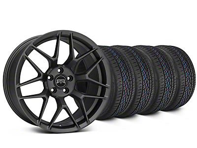 Staggered RTR Tech 7 Charcoal Wheel & Continental Extreme Contact DWS06 Tire Kit - 19x9.5/10.5 (15-17 GT, V6, and EcoBoost)